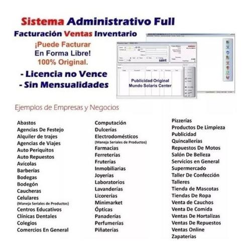 programa administrativo 7.5 facturación ventas e inventario