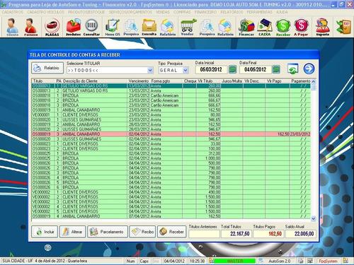 programa auto som e tuning com serviços e financeiro v2.0