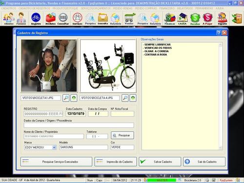 programa bicicletária, controle de estoque e financeiro v2.0