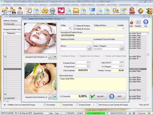 programa clinica de estética e spa com agendamento v2.0