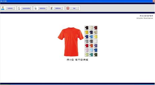 programa confecção e loja de roupas