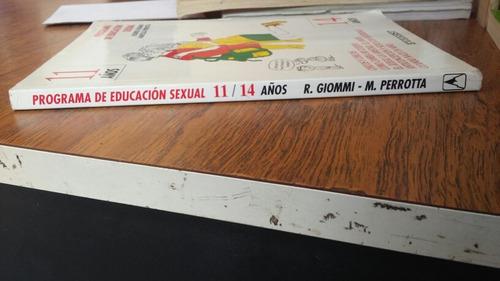 programa de educación sexual 11/14 años. r. giommi