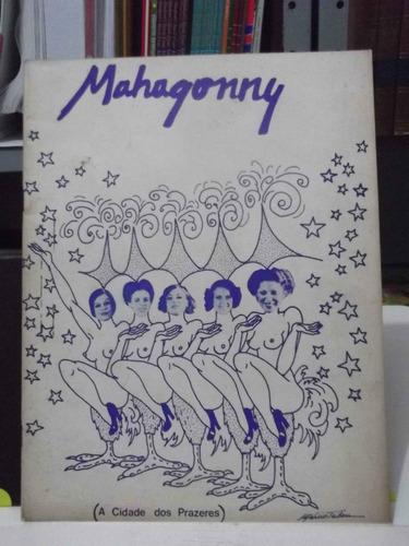 programa de teatro - mahagonny  direcao ademar guerra