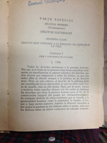 programa del curso de derecho criminal 2. francesco carrara