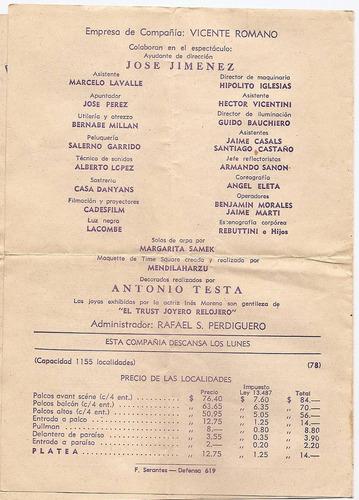 programa del teatro el nacional anuncia n. i. menta año 1952