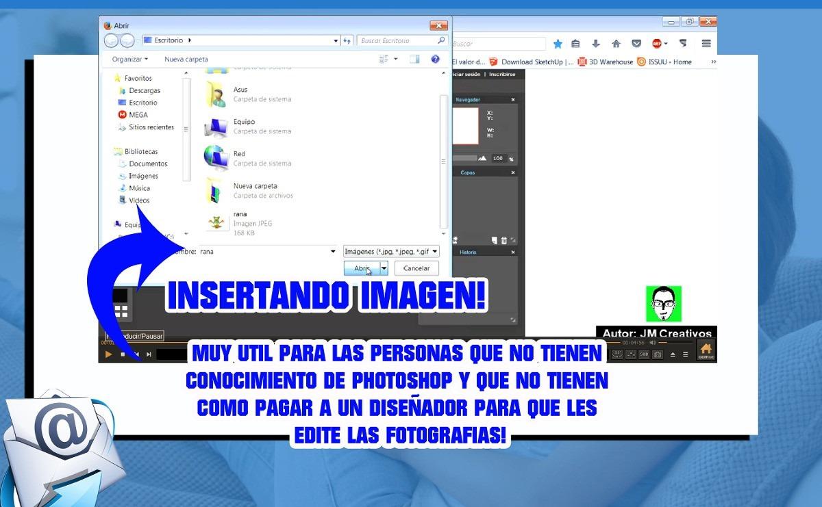 Editor de fotos con fondos de imagen