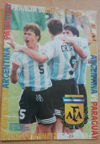 programa eliminatorias francia 1998 argentina-paraguay