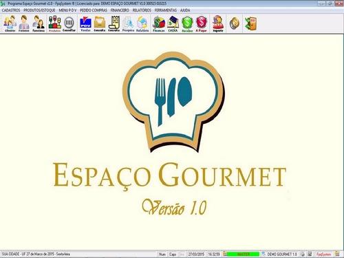 programa espaço gourmet, bares e restaurantes + pdv v1.0