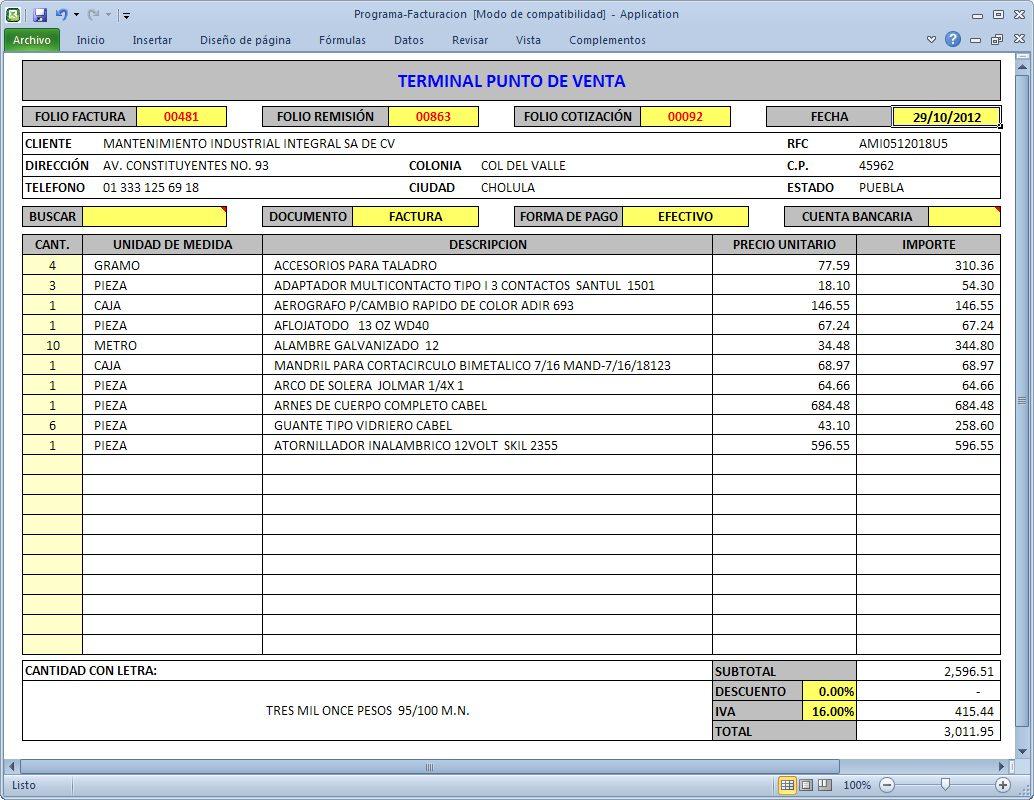 Programa Facturaci N Cbb Compras Ventas Inventarios Excel