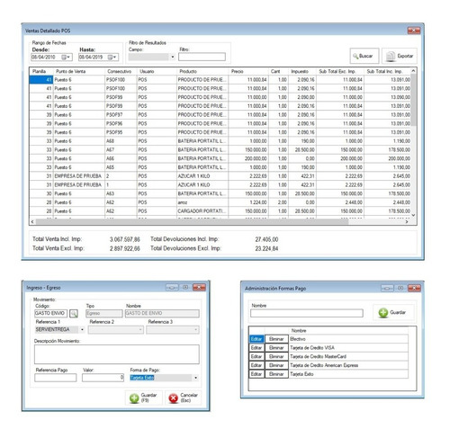 programa facturacion, cxc, cxp, inventario, compras, gastos