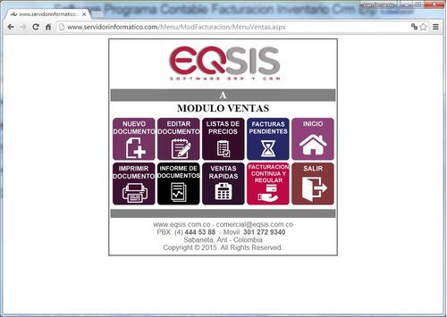 programa facturacion inventario contable compras crm eqsis