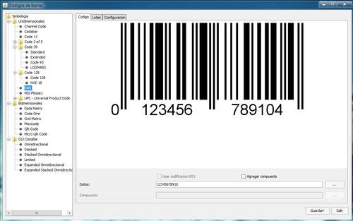 programa generador de codigos de barras y qr - todo en uno