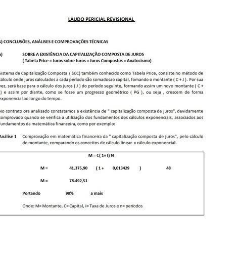 programa gera calculo revisional + laudo pericial + contábil