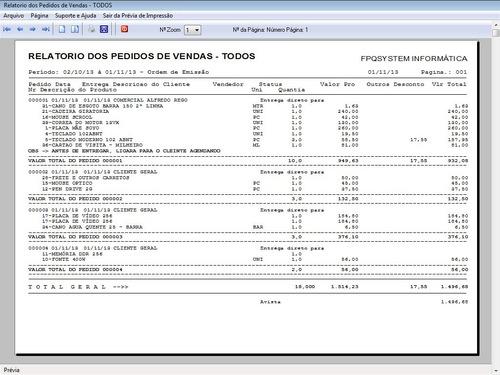 programa gerenciar pedido de vendas v1.0 - fpqsystem