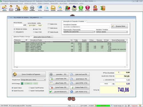 programa gerenciar representação pedidos e financeiro v2.0