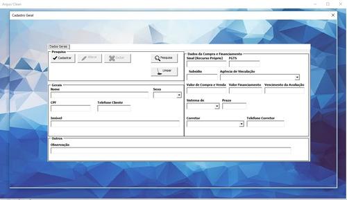 programa gestão imobiliária/ gestão de empréstimos/ consigna