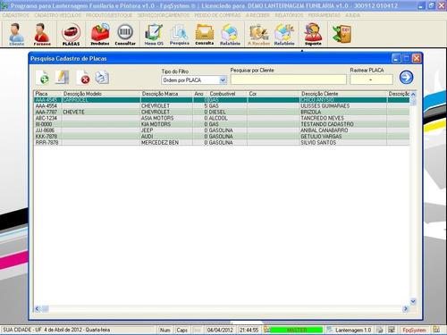 programa lanternagem, funilaria e chapeação v1.0 - fpqsystem