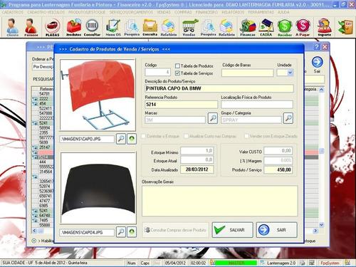 programa lanternagem funilaria pintura chapeação 2 fpqsystem