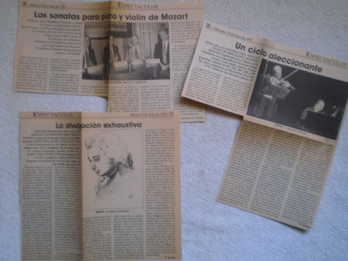 programa mozart sonatas violín y piano hasaj y batlle 1997