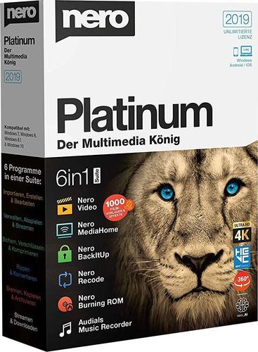 programa nero 2019 platinum 32 bits y 64 bits
