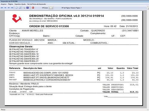 programa oficina mecânica estoque e financeiro v4.0
