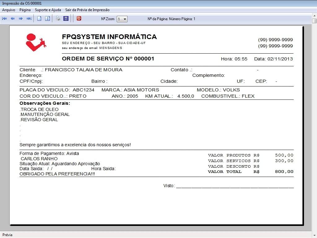 Programa ordem de servi o oficina mec nica e produtos v2 0 r 85 00 em mercado livre - Programas para oficina ...