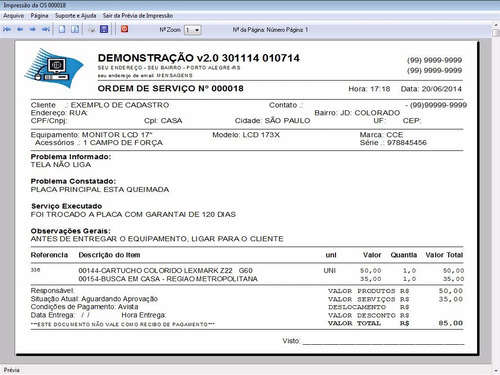 programa ordem de serviço orçamentos produtos v2.0 fpqsystem