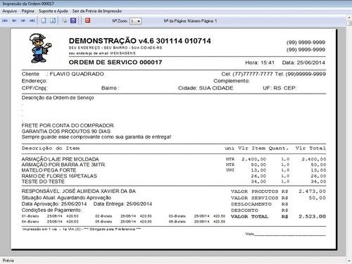 programa ordem de serviço para jardinagem + financeiro v4.6