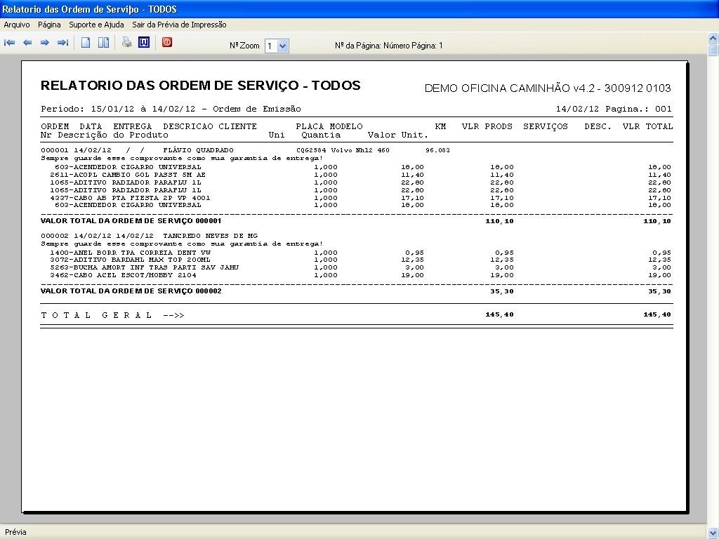 Programa Ordem De Serviço Para Oficina Mecânica Caminhão 42
