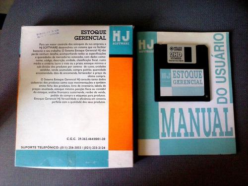 programa original de estoque com disquete