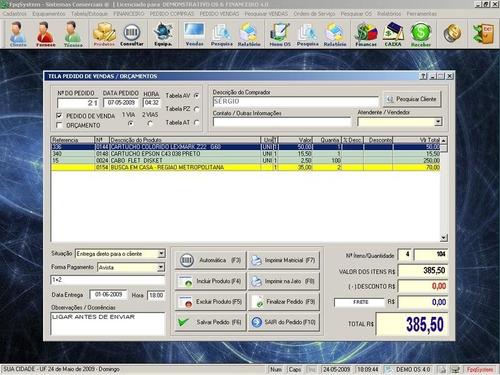 programa os assistência técnica, vendas e financeiro v4.0
