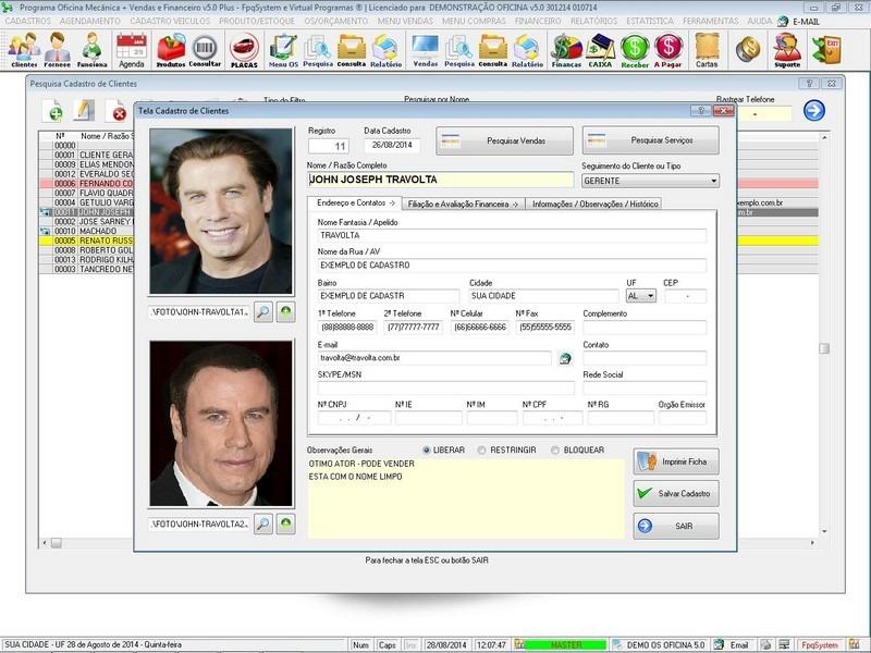 Programa os oficina mec nica com check list e foto v5 0 for Programas para oficina