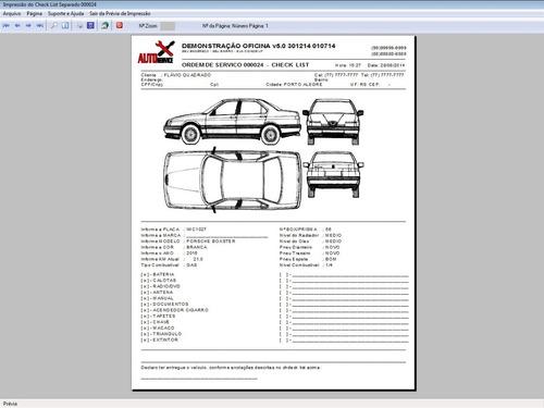 programa os oficina mecânica com check list e foto v5.0 plus