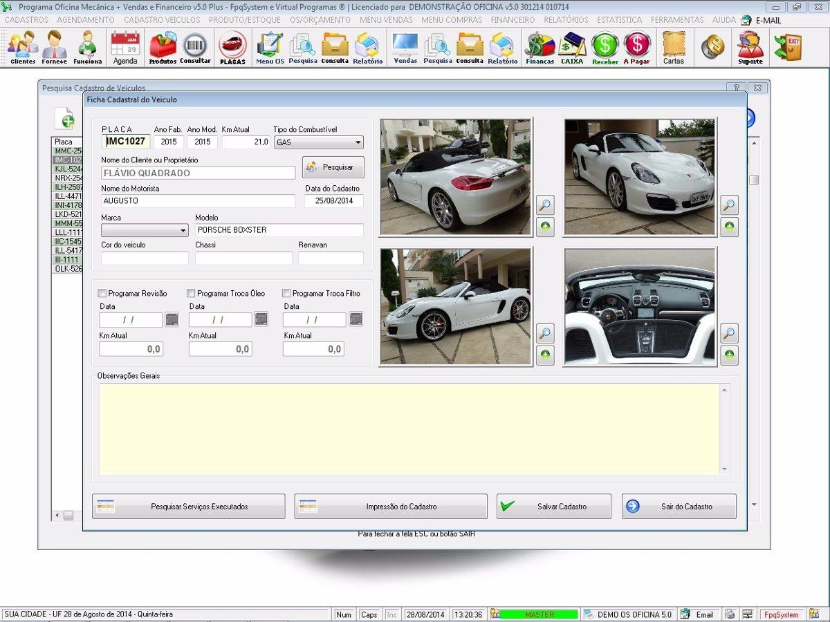 Programa os oficina mec nica com check list e foto v5 0 for Programa para disenar oficinas