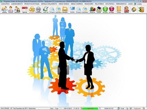 programa os serviços gerais com vendas, financeiro v5.6 plus
