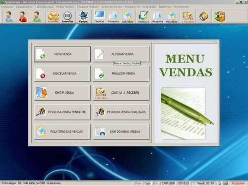 programa para assistência técnica, serviços e vendas v3.0