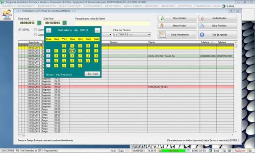 programa para assistência técnica, vendas e financeiro v5.0