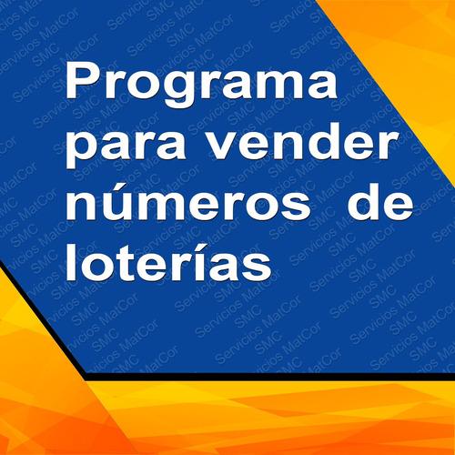 programa para bancas de loterías
