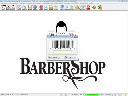 programa para barbearia barbershop com controle de atendimento vendas estoque e relatórios v2.0 - fpqsystem