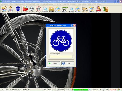programa para bicicletaria, cadastro de clientes e bike v1.0