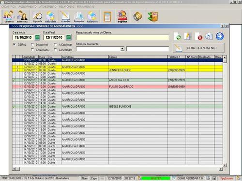 programa para cadastro de clientes e agendamentos v1.0