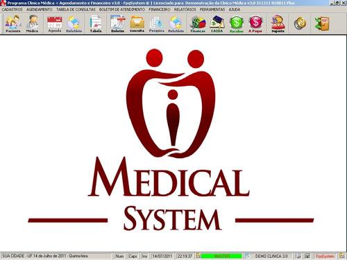 programa para clinica médica + agendamento e financeiro 3.0