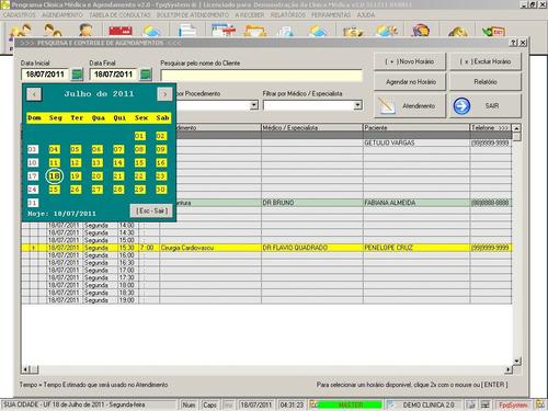 programa para consultório médico em geral e agendamento 2.0