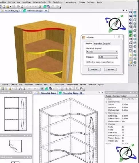Programa Para Diseñar Muebles Cocina Closet Estantes Y Más - $ 45.00 ...