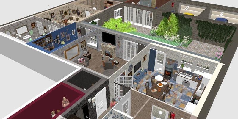 Programa para dise o casas 2d 3d crear interiores de hogar for Programa de diseno interiores