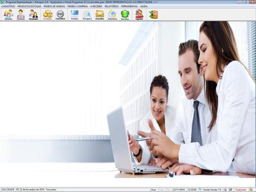 programa para gerenciar representação e pedido de vendas 1.0