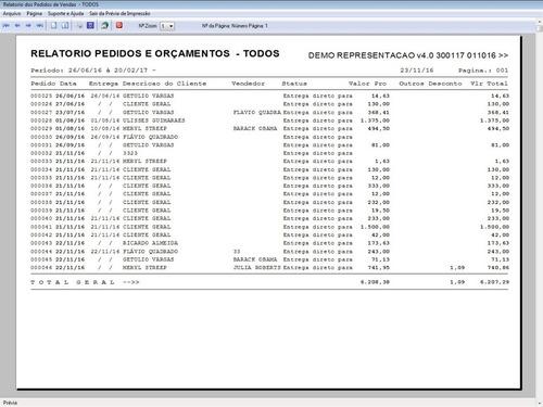 programa para gerenciar representação pedido de vendas v4.0