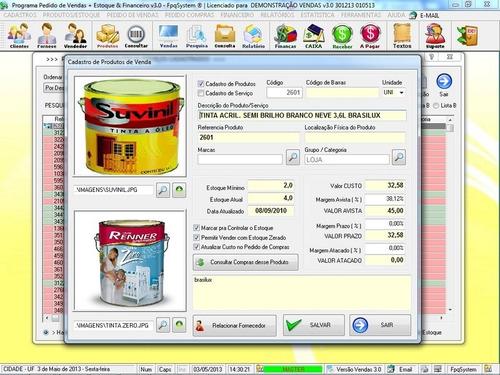 programa para gerenciar vendas estoque financeiro v3.0 plus