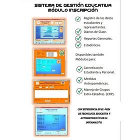 Programa Para Gestión Escolar Realizado En Excel (adaptable)