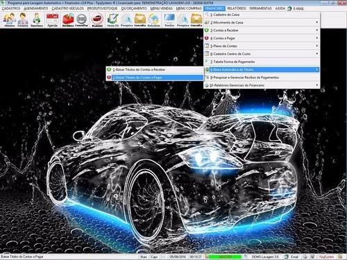 programa para lavagem automotiva com financeiro completo 3.0